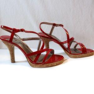 Mudd Heels - Red, Strappy Sandal Style Heels